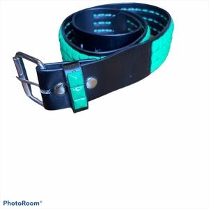 Hot topic black with green studding belt size 36